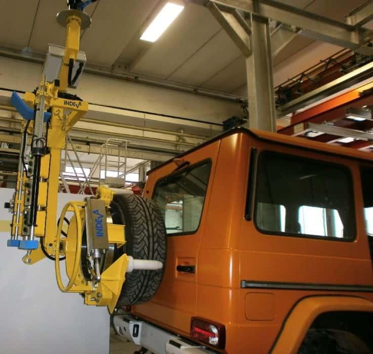 Automotive industry: INDEVA for safe material handling