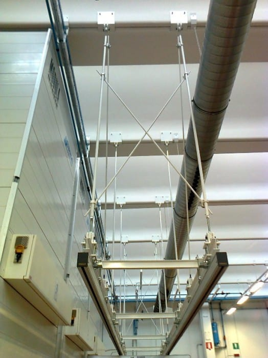 Overhead rail structure in aluminum