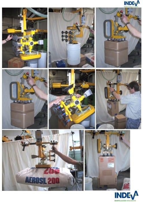 Lifting equipment for bags, boxes,drums and jars