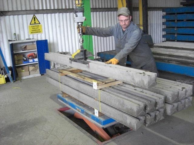 handling concrete blocks