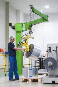 handling packaging paper reels