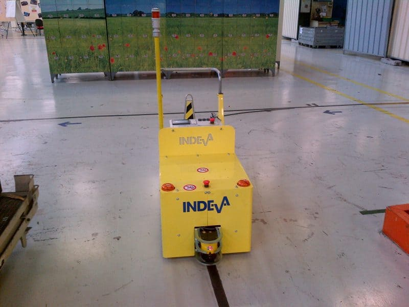 INDEVA Tugger AGV - automatic guided vehicles