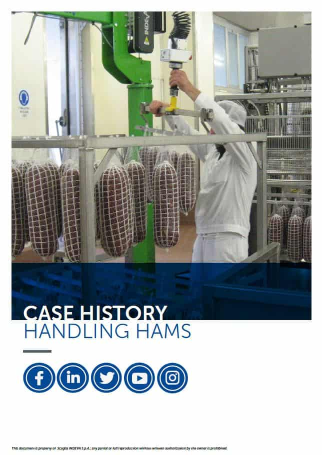 Handling hams with an INDEVA Liftronic Easy