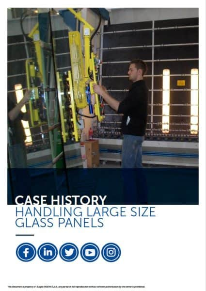 handling large size glass panels
