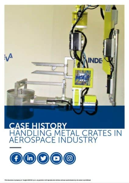 handling metal crates in aerospace industry