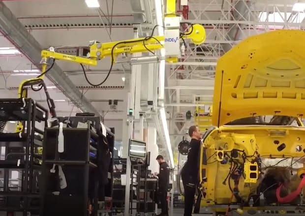 Scaglia INDEVA Manipulators in the Lamborghini URUS factory