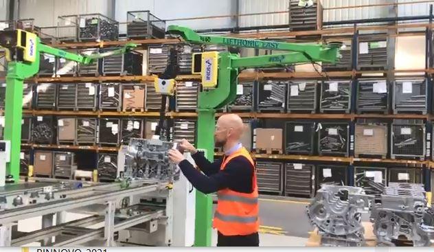 Intelligent Lift Assist Device for handling engine blocks