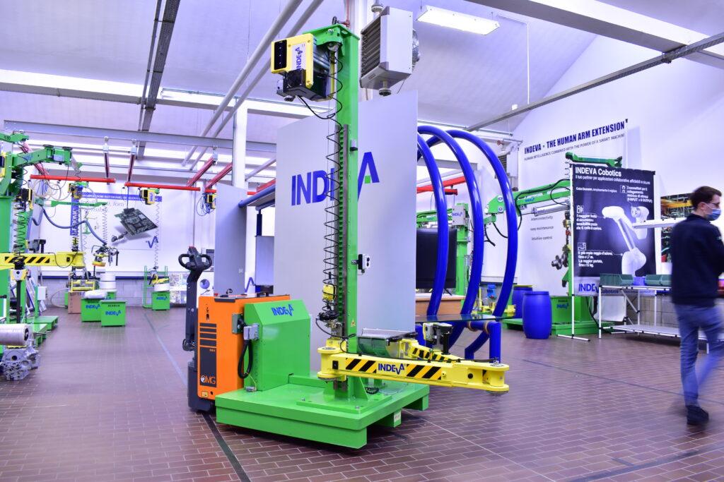 Handling plastic film reels in tyre industry